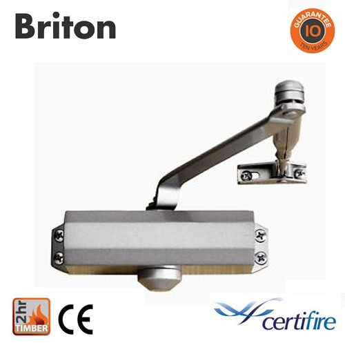 Briton 121CE Door Closer - Silver