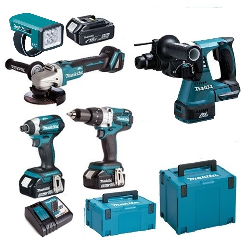 Makita 18v Brushless KIt TOPKI5 WITH 3X5.0Ah Batteries