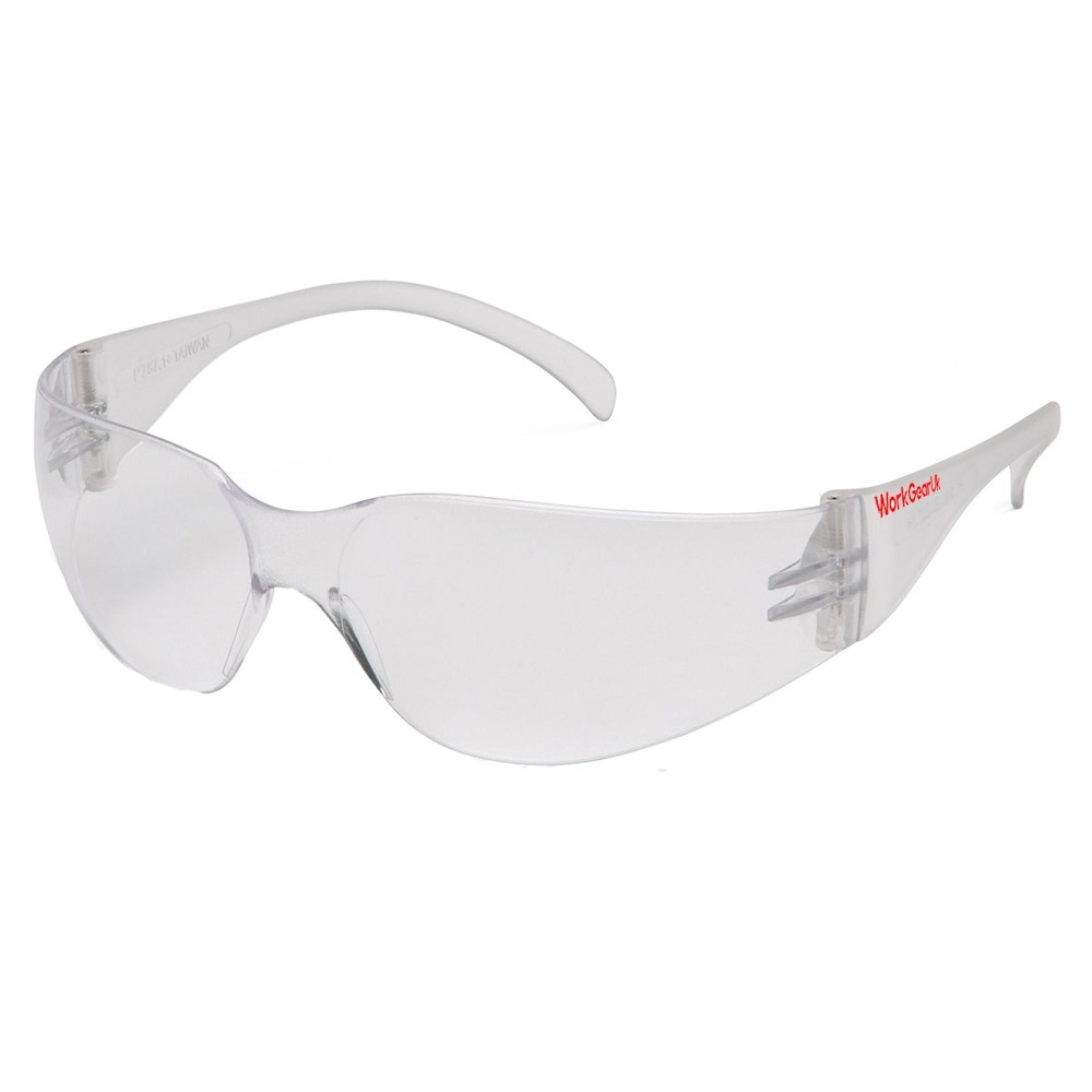 Work Gear Uk GX05 Clear Lens Safety Glasses CE EN166 WG-GX05