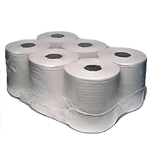 White Paper Centre Feed Rolls 2 Ply X 6 Pack