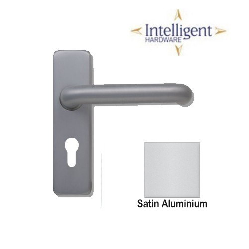 Sheringham Lever on Concealed Plate Satin Aluminium