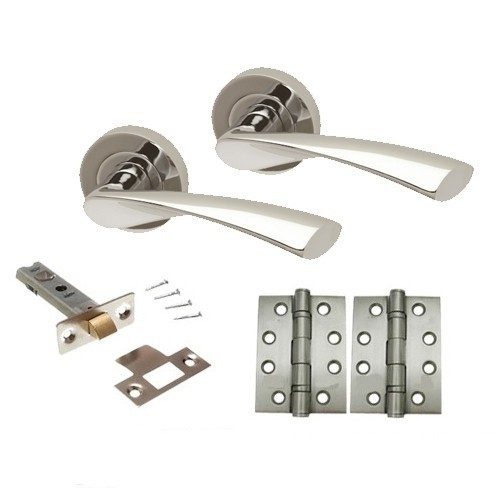 Zeta Door Handle Set - Dual Finish Intelligent Hardware