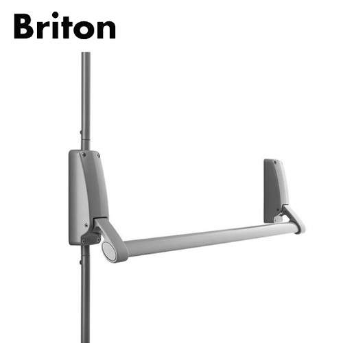 Briton 376.SE Push Bar - Vertical PanicBolt (Single) Silver