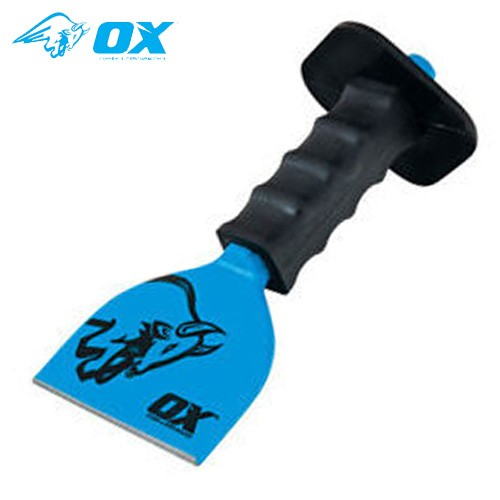 "Ox Tools T090504 Trade Brick Bolster With Guard - 4"" / 100mm"