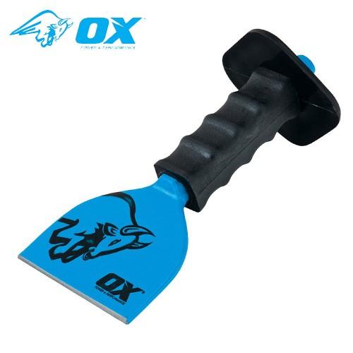 "Ox Tools T090503 Trade Brick Bolster With Guard - 3"" / 75mm"