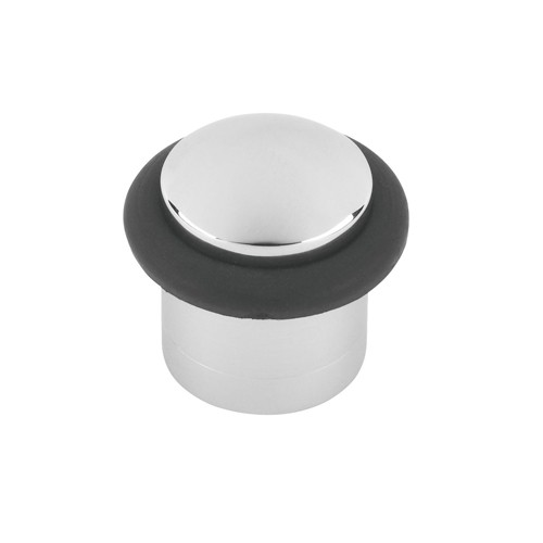 Door Stop Floor Mounted Satin Stainless Rubber 31 X 40mm DST.40.SSS