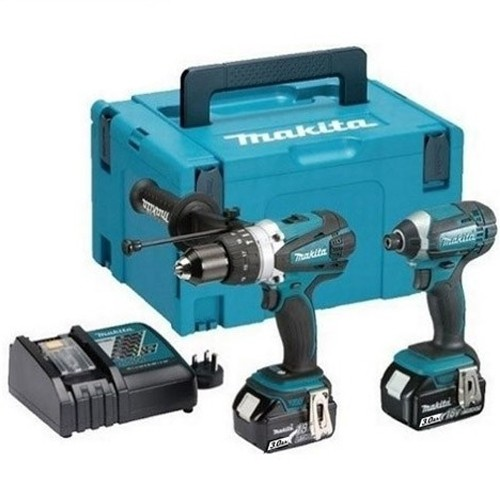 Makita DLX2145MJ 4.0ah Twin Kit DHP458 Combi, DTD152 Impact