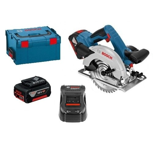 Bosch GKS18V57G 18V Circular Saw L-BOXX with 2x5.0Ah Batteries