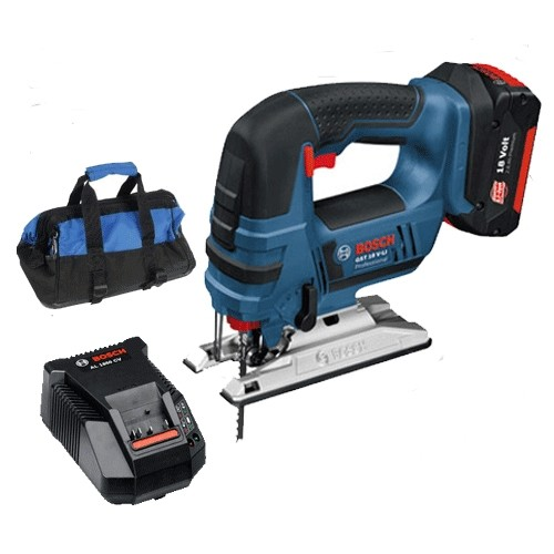 Bosch GST18V-LI-1 Jigsaw Kit (1 x 4.0ah Battery + Charger in a Kit Bag)