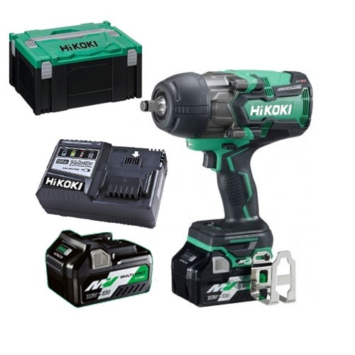 HIKOKI WR36DB 36v Multivolt Impact Wrench 1050nm 2X2.5ah Li-ion Batt