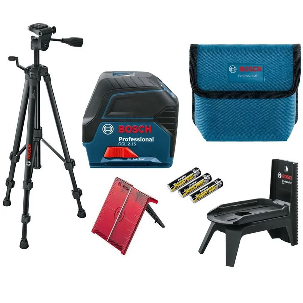 Bosch GCL 2-15 Professional Combi Laser Self-Levelling Cross Line set