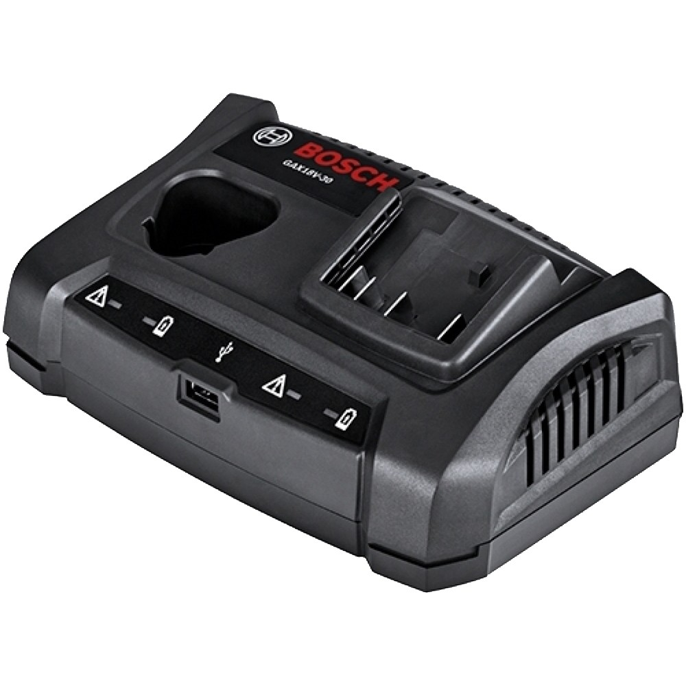 Bosch GAX18V-30 12v / 18v Dual Charging Bay With USB Port