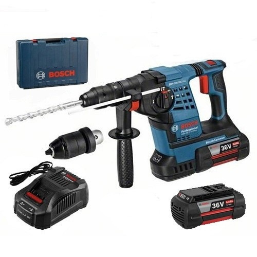Bosch GBH 36 VFLP Plus SDS+ Rotary Hammer 2 X 6 Ah Battery