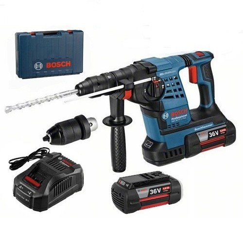 Bosch GBH 36 VFL Plus SDS+ Rotary Hammer 2 X 4 Ah Battery (0611907075)