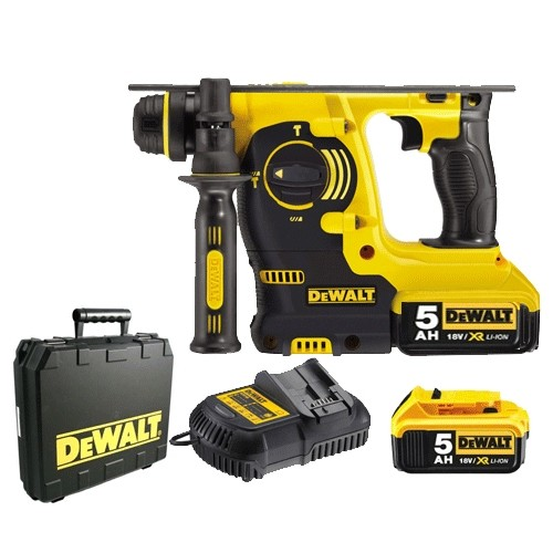 Dewalt DCH213M2 18v Lithium Ion 4ah SDS Drill With 2 Batteries