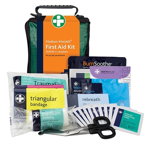 Car & Van First Aid Kit Medium Kit bag designed to deal with minor road accidents