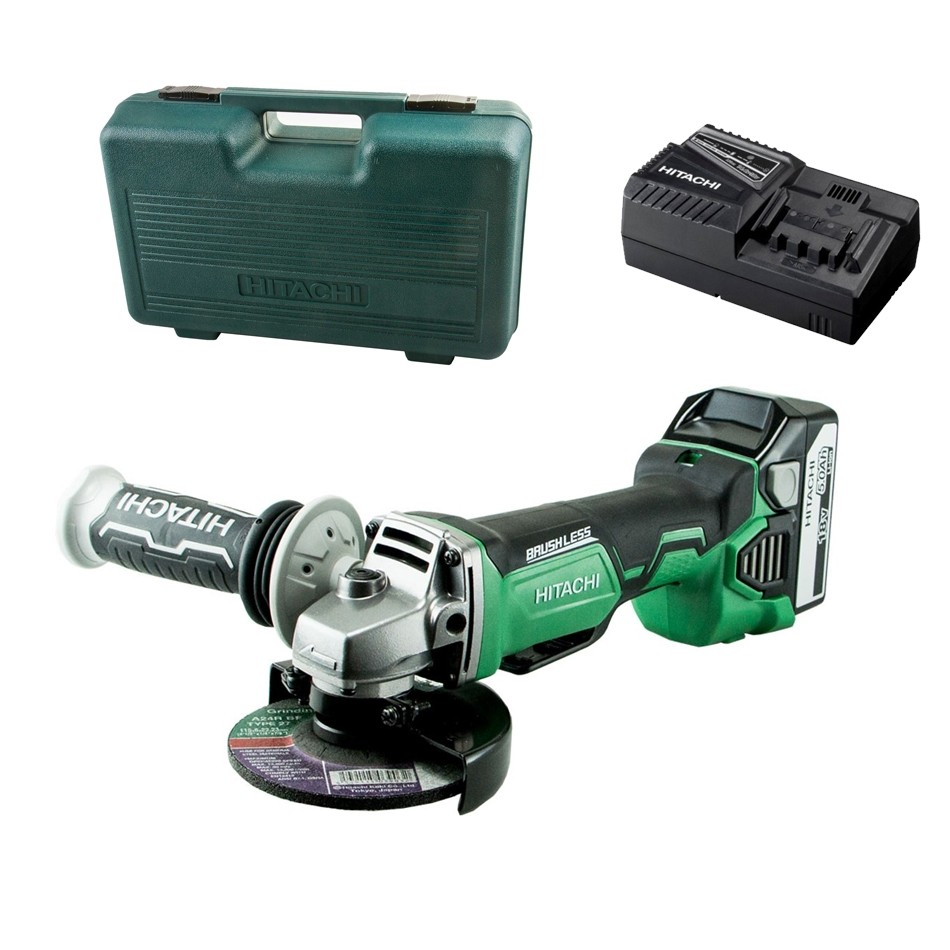 Hitachi G18DBAL/JJ 18V 1x5.0Ah Li-Ion Brushless Grinder Kit