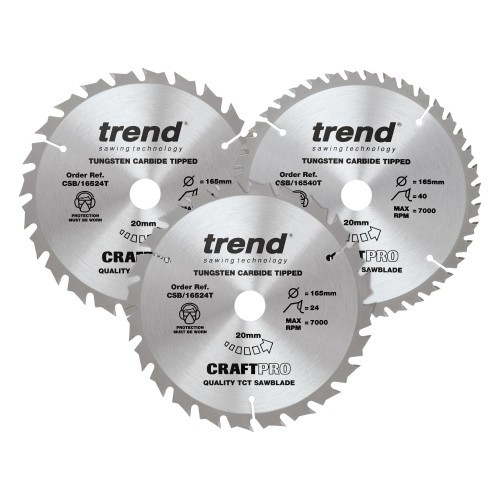CSB/165/3PK/C - Craft saw blade triple pack