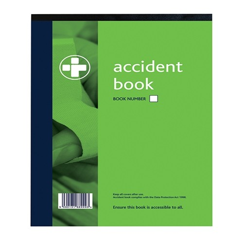 Accident Book A4 Workplace Accident Book including guidance