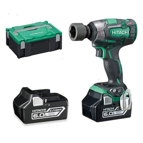 Hitachi WR18DBDL2/JX 18V Brushless Impact Wrench 2 x 6.0Ah