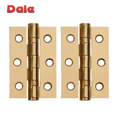Polished Electro Brass Hinges, 75mm x 50mm DH00865