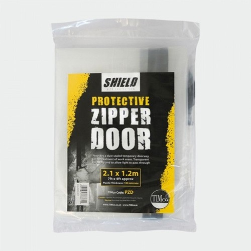 Shield Protective Zipper Door PZD 2.1M X 1.2M Temporary doorway for concealment of work areas