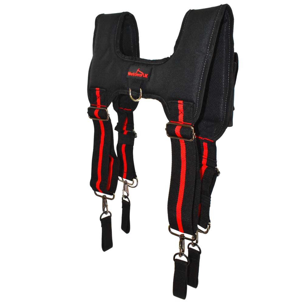 Padded Tool Belt Braces With 4 Loops Heavy Duty Work Suspenders by WorkGearUk WG-HDB02