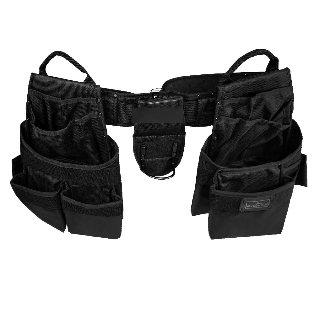 Work Gear Uk 15 Pocket Jumbo Tool Belt Set Heavy Duty 1680 Denier polyester Fabric WG - PX18