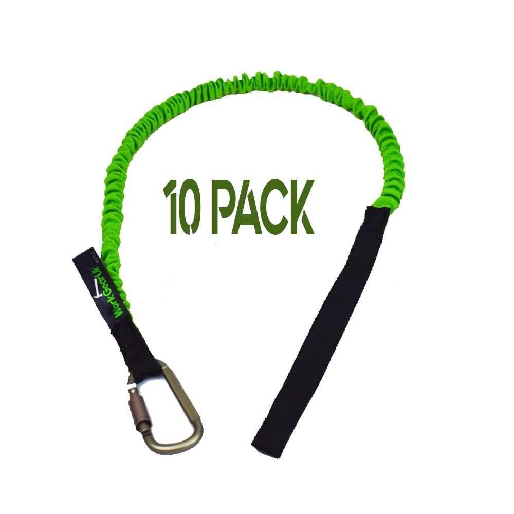 Tool Lanyard With Carabiner With a 20mm Braided Strap WorkGearUk WG-TL02 10 PACK