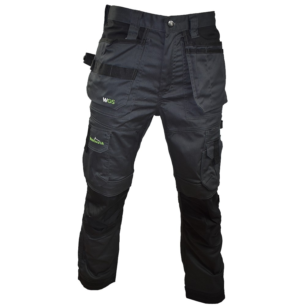 orkGearUk Holster Pocket 3D Stretch Trouser Grey/Black WG-TR01 Waist Sizes 30w,32w,34w,36w38w,34w,42w