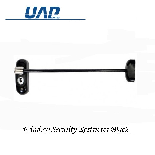uap Window Security Restrictor Lockable in Black WRBLACK