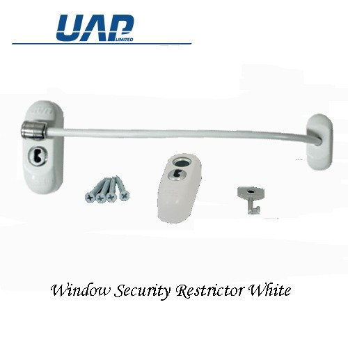 uap Window Security Restrictor Lockable in White WRWHITE