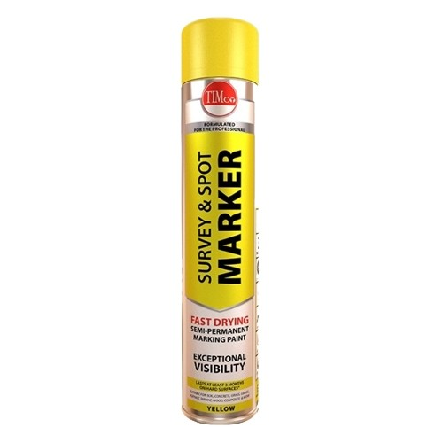Survey and Spot Marker Yellow 750ml qty 6 (237025)