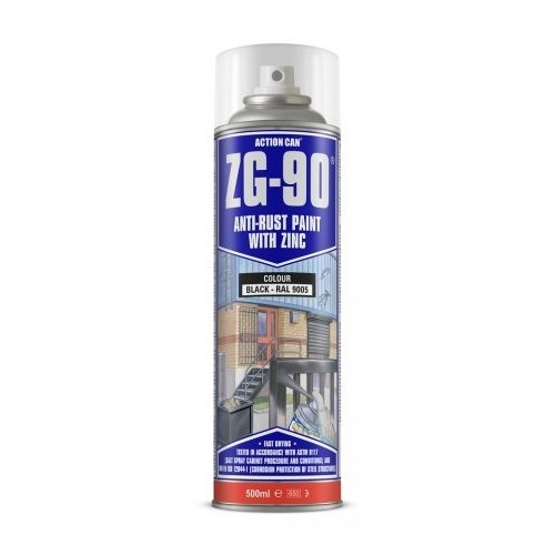 ZG-90 Black Anti Rust Paint with Zinc